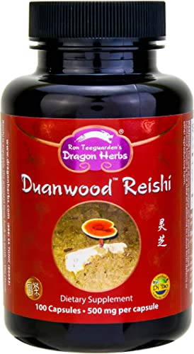 Dragon Herbs Duanwood Reishi – 500 mg – 100 Vegetarian Capsules