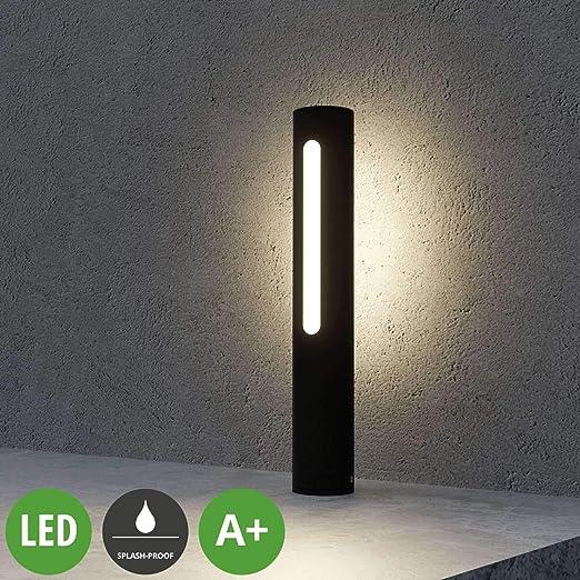 LED Lámpara para exterior Tomas (Moderno) en Negro hecho de Aluminio (1 llama, A+) de Lucande | iluminación de senderos, baliza, iluminación de senderos, farola: Amazon.es: Iluminación