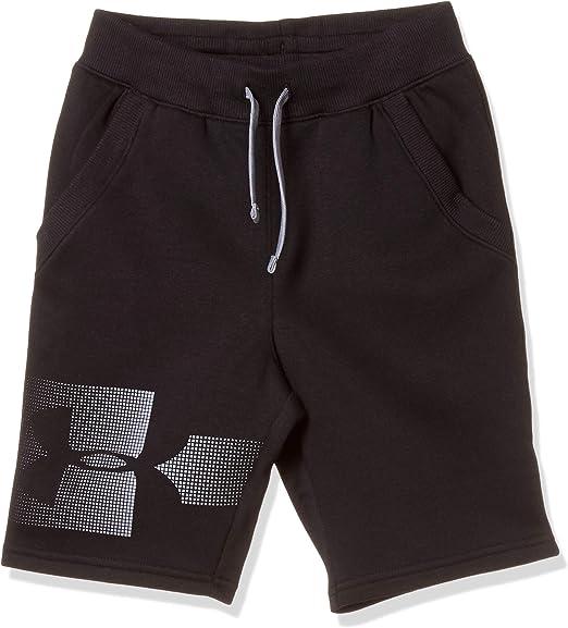 Under Armour Junior Boys Armour Fleece Shorts in Grey