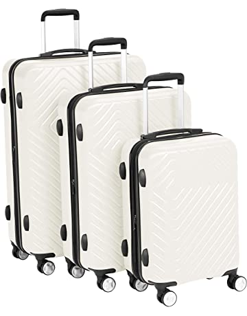 b3906d63d AmazonBasics Geometric Luggage Expandable Suitcase Spinner with Built-In  TSA Lock
