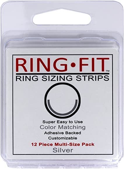 1 x Rolled Yellow Gold Ring Clip Size Reducer Adjuster fits 3mm wide Easy Fit,,.