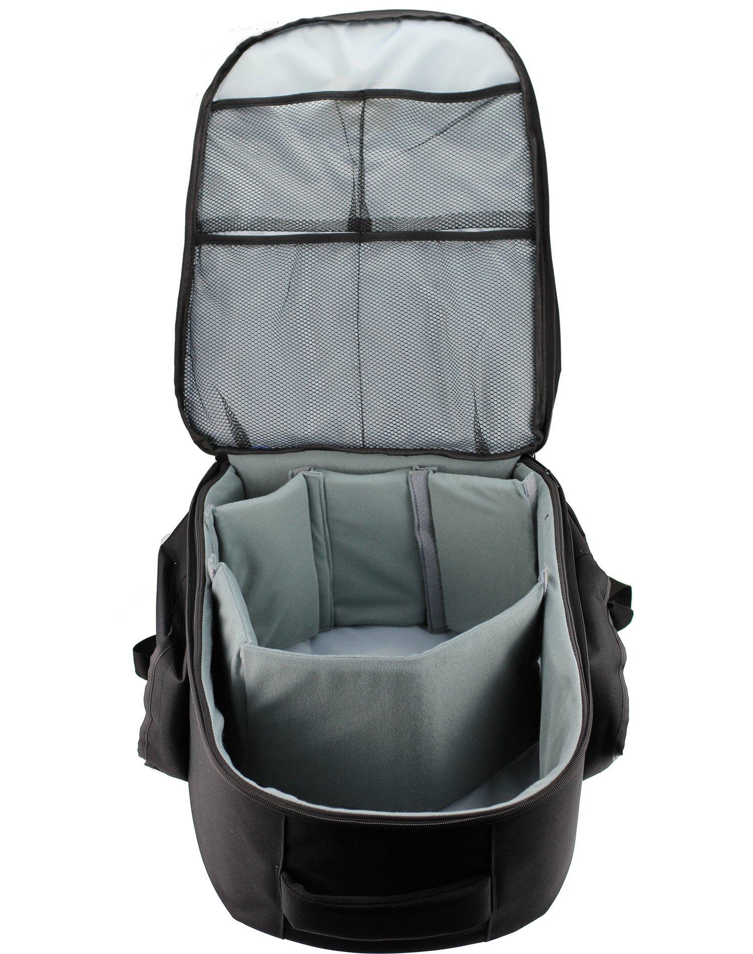 Navitech Rugged Black Backpack/Rucksack for The Oculus Rift + Oculus Touch Controller by Navitech (Image #6)