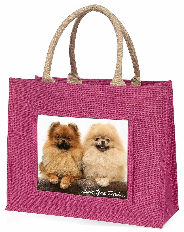 Advanta Pomeranian Dogs Love You Dad Große Einkaufstasche ...
