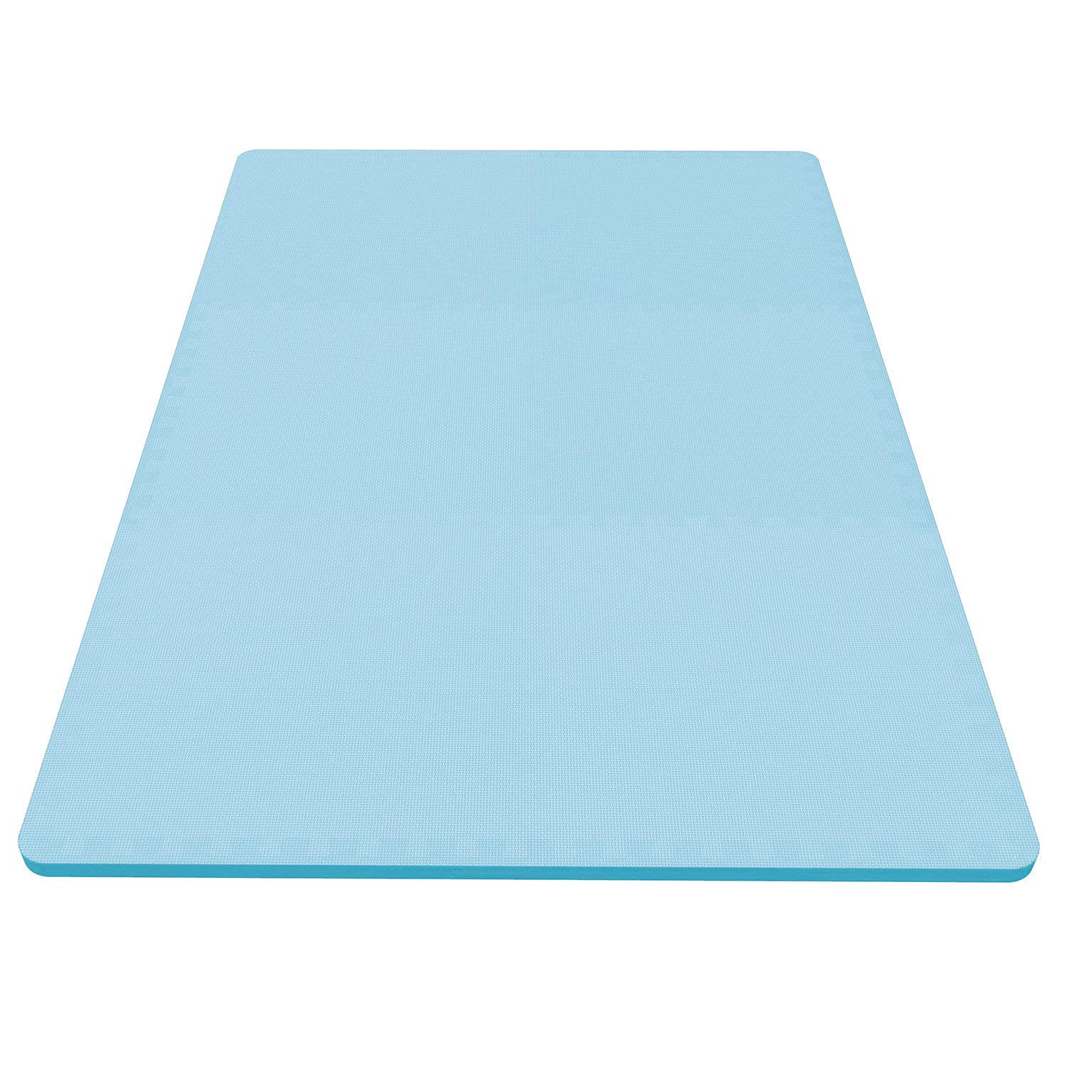 LEVOIT Puzzle Exercise Mat, Premium EVA Foam Interlocking Tiles, Protective Flooring for Gym Equipment and Cushions for Workouts, 24 SQ FT (6 Tiles, 12 Borders) (Blue) by LEVOIT (Image #4)