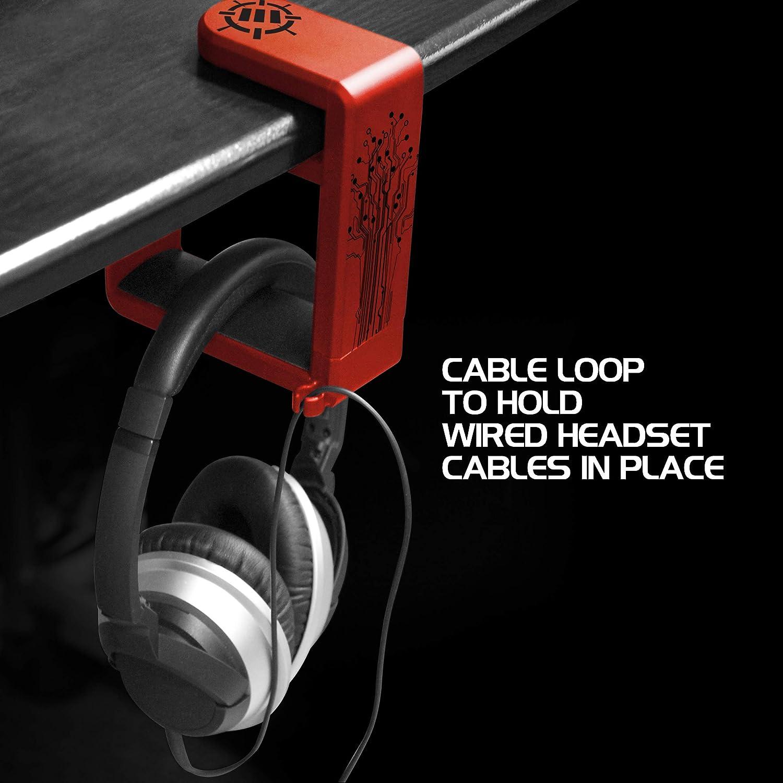 Soporte para Auriculares PC de Mesa Sujeción para Cascos Gaming en ...