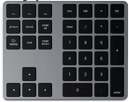 Satechi Teclado Númerico con Bluetooth – Delgado Recargable con 43 Teclas – Compatible con iMac Pro/iMac, 2020/2019/2018 MacBook Pro, 2020/2018 ...