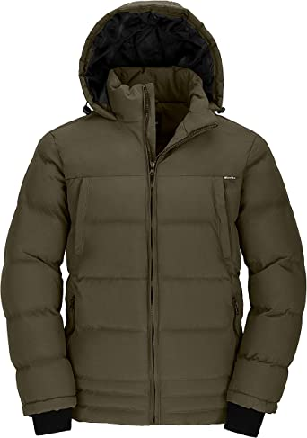 SportsX Men Hooded Parka Jacket Original Fit Puffer Padded Quilted Down Coat