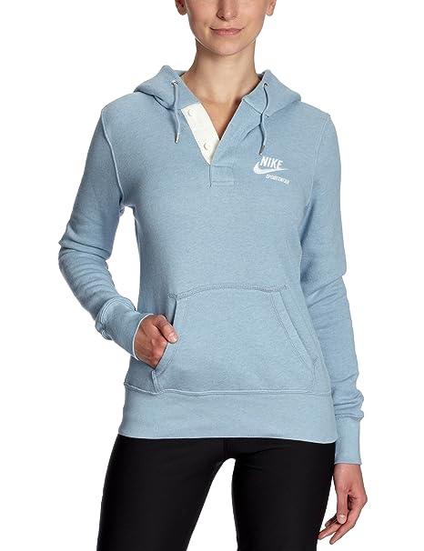 Nike Gym - Sudadera de fitness para mujer, tamaño XL, color azul