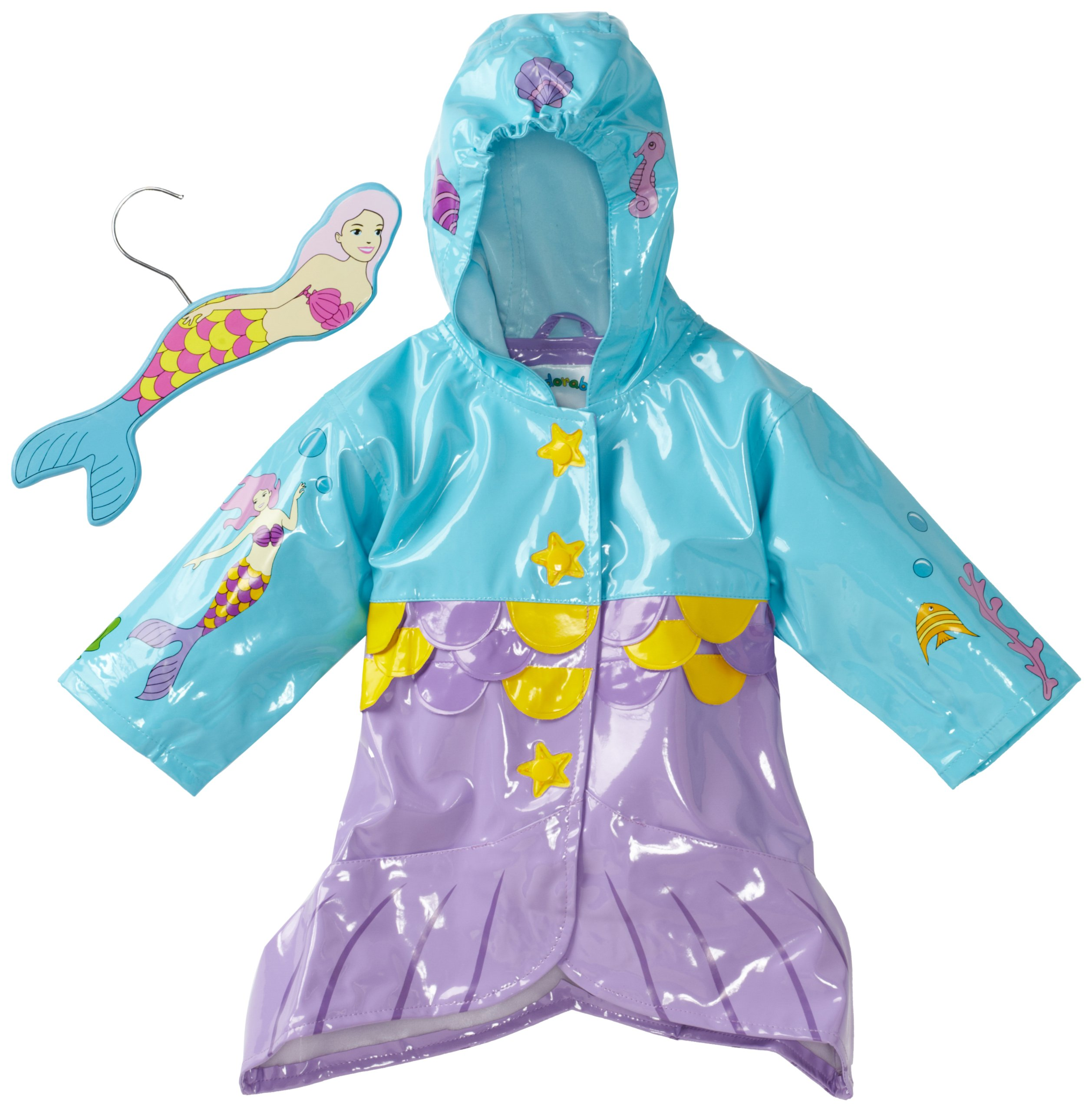 Kidorable Mermaid Raincoat, Aqua Blue, 12 18M by Kidorable