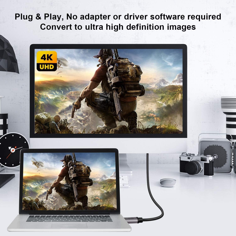 15 Samsung S9 S10 S20 Pixelbook y m/ás cable USB tipo C a HDMI Thunderbolt 3 compatible con MacBook Pro 2018 iPad Pro Dragon Trading Adaptador de cable USB C a HDMI 4K Surface Book 2 Dell XPS 13