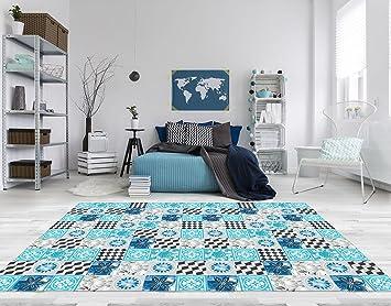 PVC Vinyl Fussboden Fußboden Boden Teppich Matte ForWall Blaue - Vinyl matte fliesen