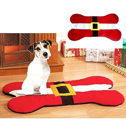 De mascotas de juguete con diseño de letra multiusos asiento de Papá Noel alfombrilla de mascotas