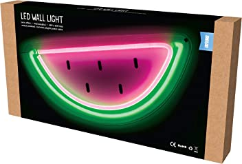Shot2go Watermelon LED Neon Effect Wall Light - Mains Powered, Size 420 x 205mm
