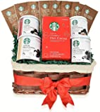 Starbucks Valentine's Day Hot Cocoa Mixed Gift Basket - 5 Different Flavors - Double Chocolate, Peppermint, Salted Caramel, Marshmallow, Classic Hot Cocoa - Gifts for Him and Her