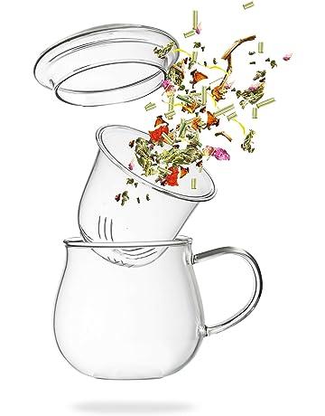 Grande Tasse à thé - Tasse à thé avec infuseur en Verre – Verre en  Borosilicate c87c05bb4258