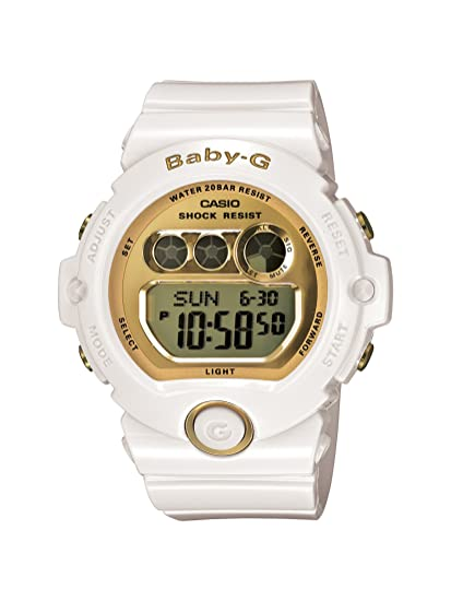 972fb6ad8def95 Casio Women's BG6901-7 Baby-G White Resin and Gold-Tone Accented Large  Digital Sport Watch: Amazon.ca: Watches