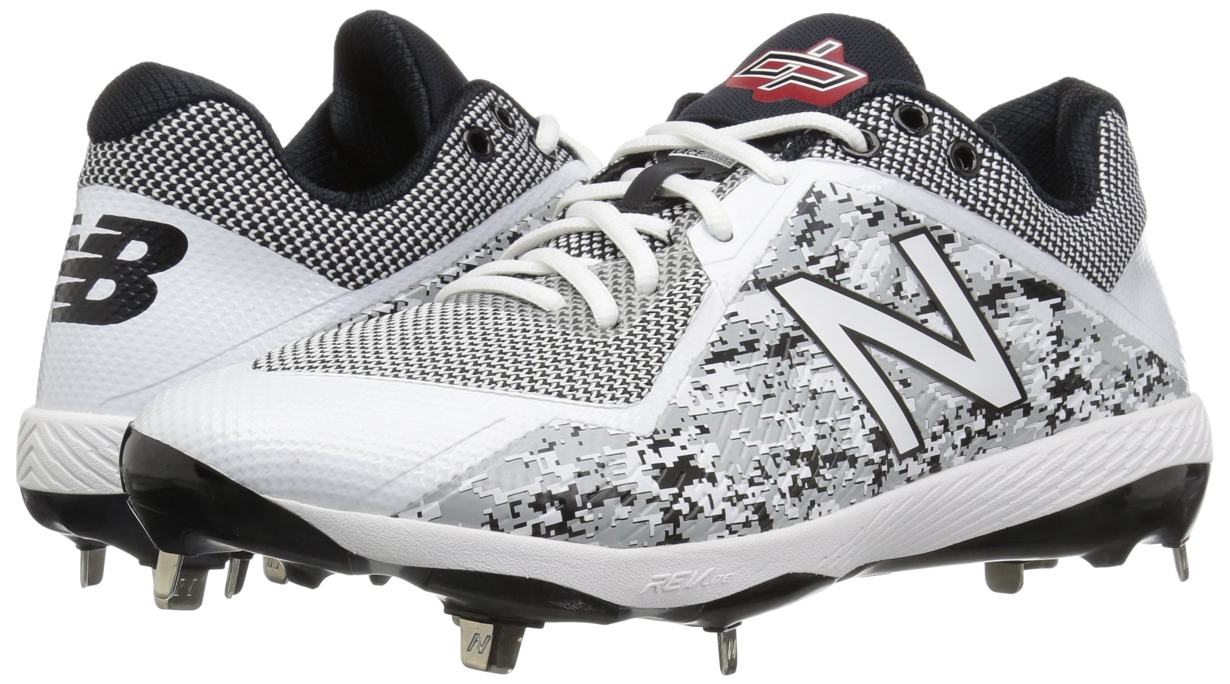 New Balance Men's L4040v4 Metal Baseball Shoe, Silver/Camo, 7.5 2E US by New Balance (Image #6)