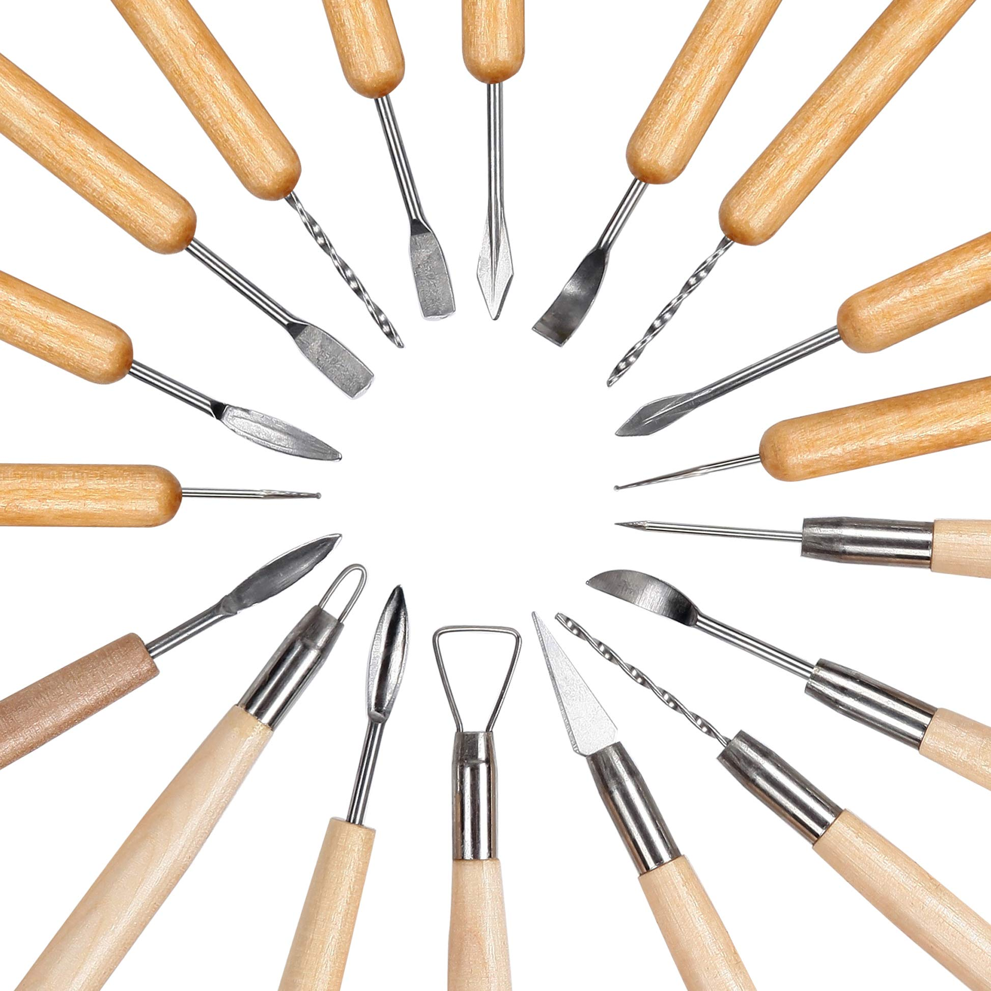 Falling in Art 45pcs Clay Sculpting Tool Kit, Pottery Ceramic Tool Set with Plastic Box by Falling in Art (Image #2)