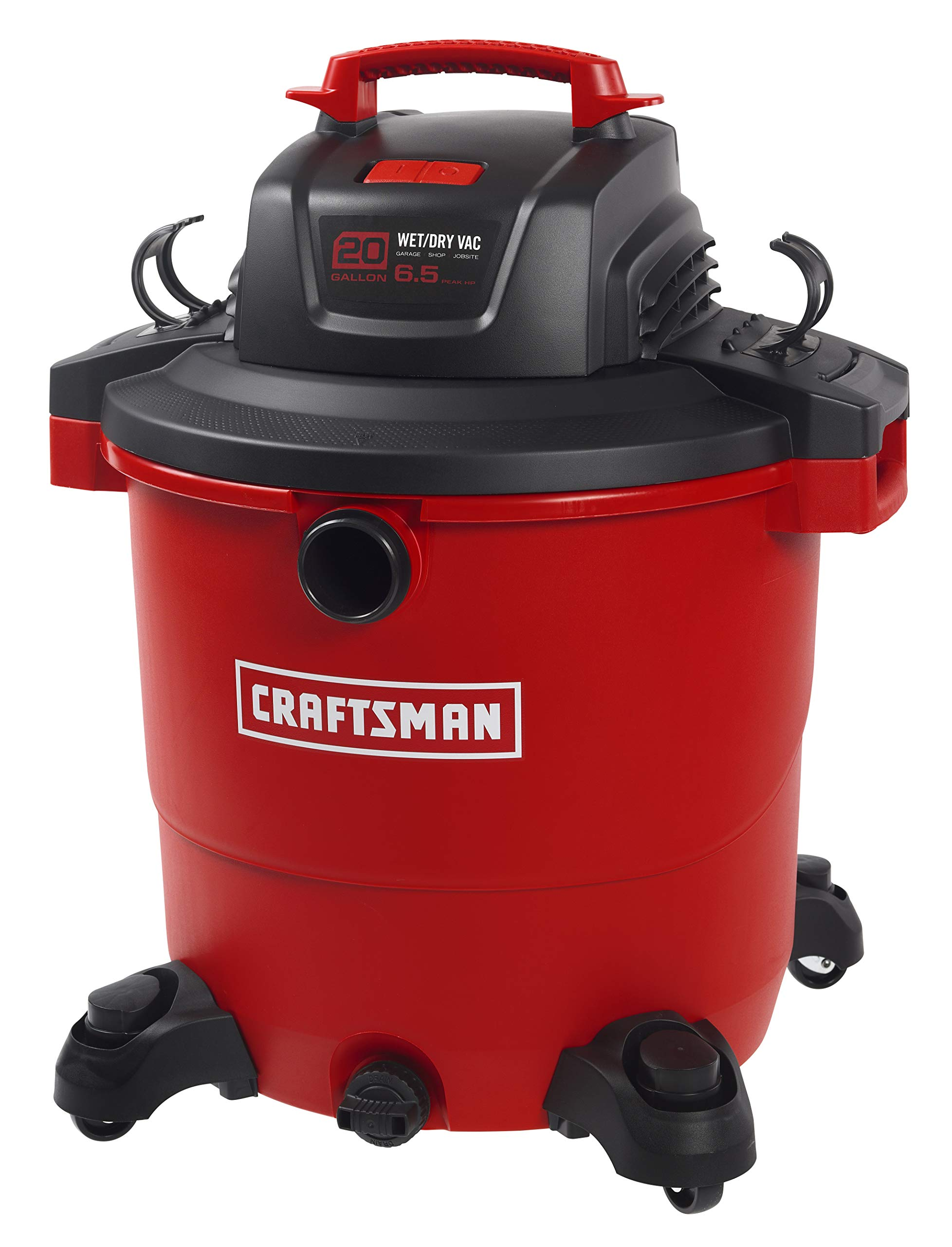 CRAFTSMAN 17596 20 Gallon 6.5 Peak HP Wet/Dry Vac, Heavy-Duty Shop Vacuum with Attachments by Craftsman (Image #3)