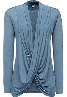 khujo Damen Shirt RUNA taupe in Größe S Langarmshirt Longsleeve SALE 60/%
