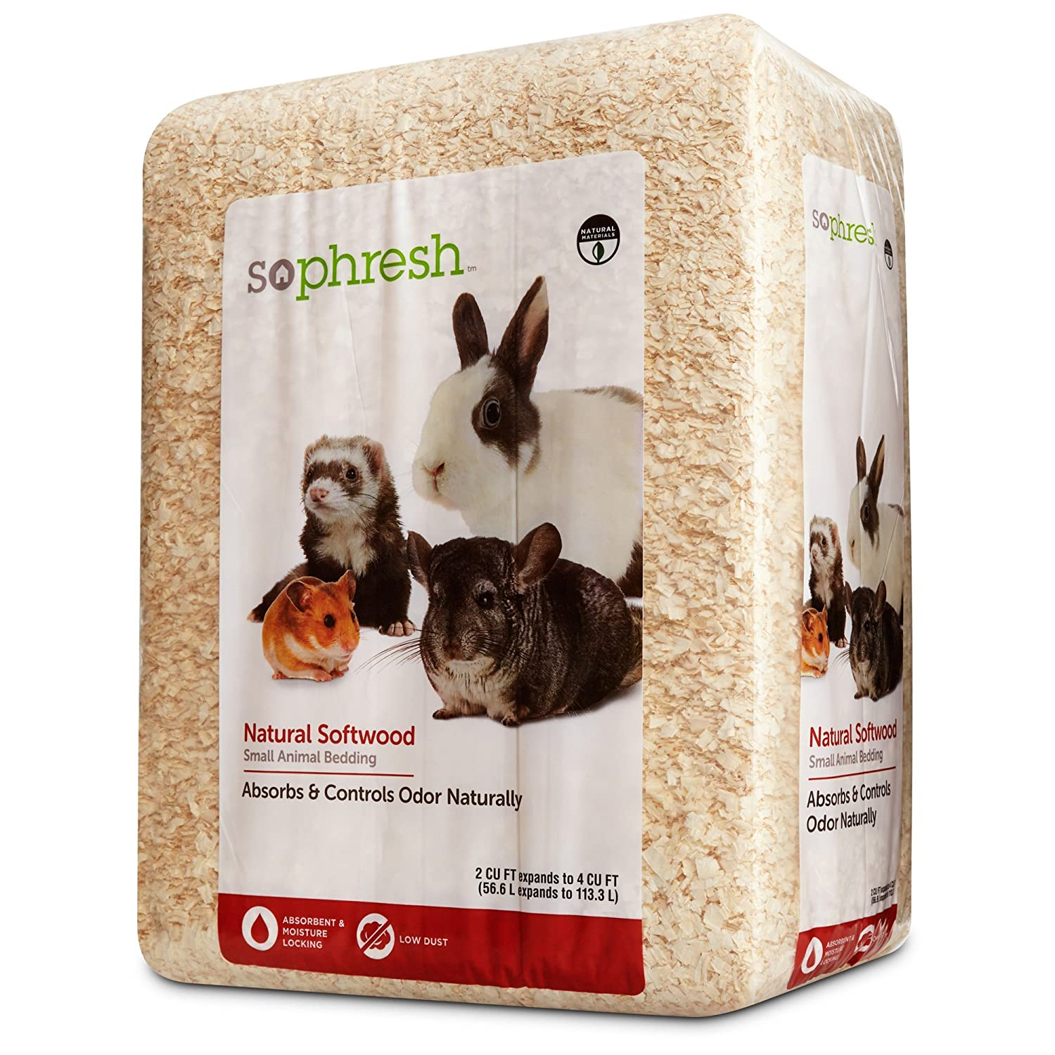 So Phresh Natural Softwood Small Animal Bedding 56.6 Liters (500 cu. in.)