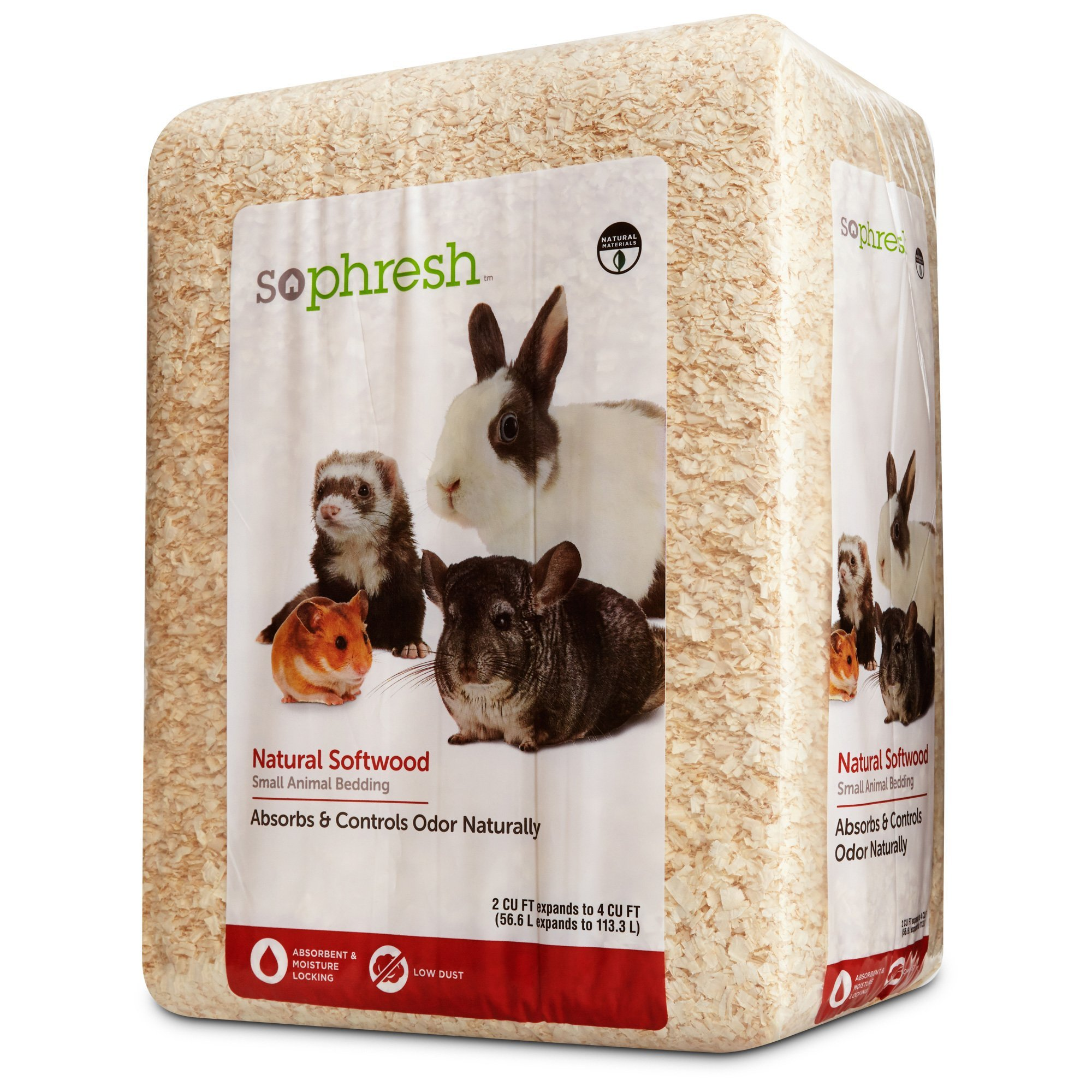 So Phresh Natural Softwood Small Animal Bedding, 56.6 Liters (500 cu. in.) by So Phresh