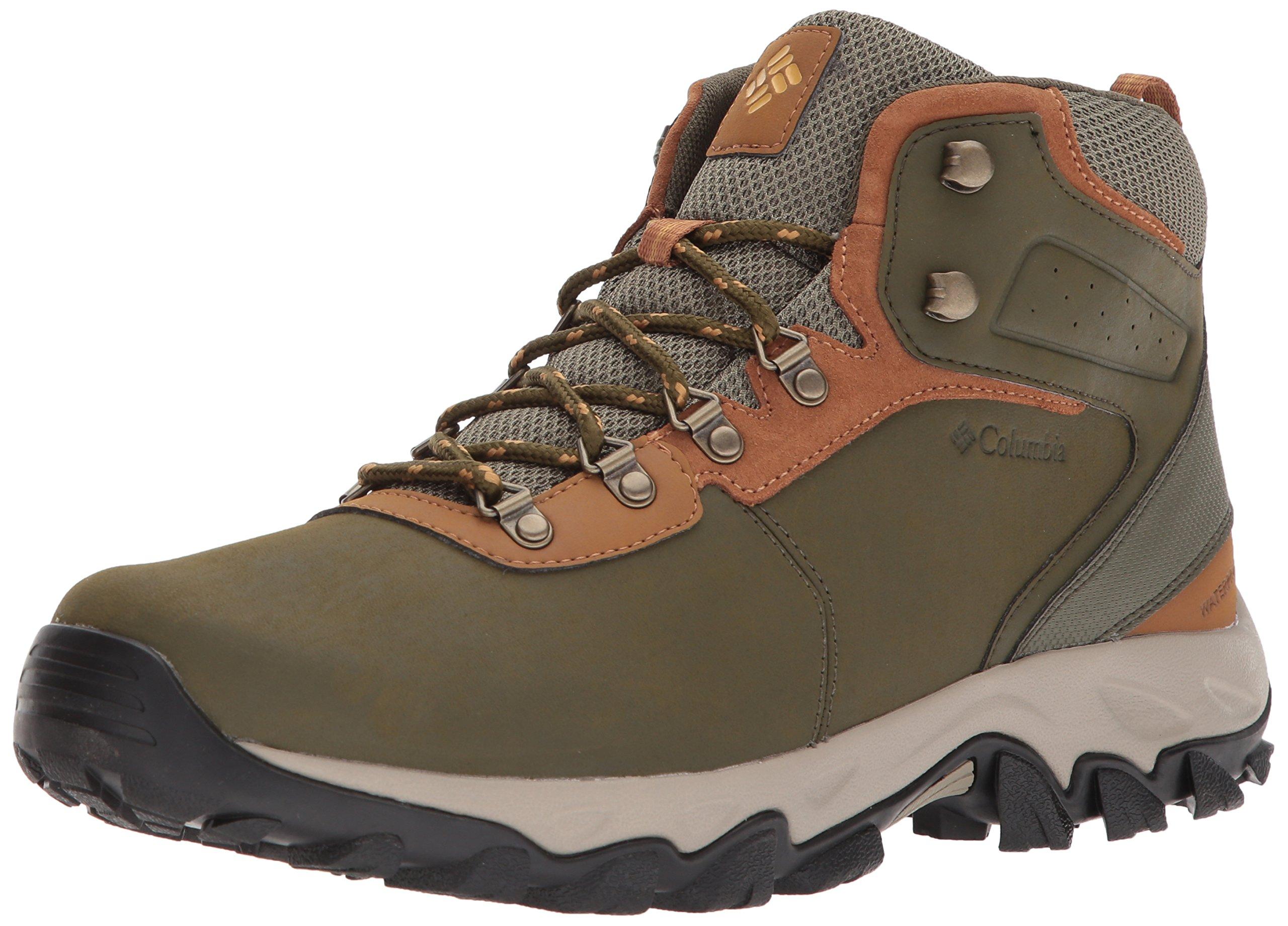 Columbia Men's Newton Ridge Plus II Waterproof Hiking Boot nori, Dark Banana 13 Regular US