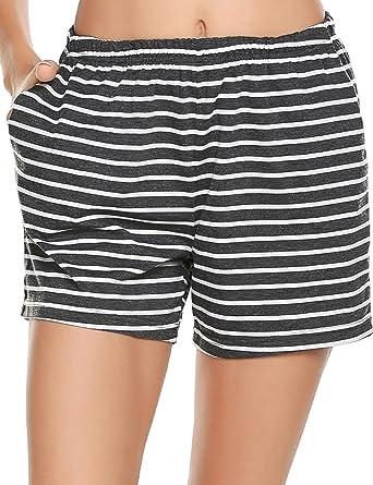4ffe2db85a3 Ekouaer Pajama Bottoms Women s Soft Sleep Shorts Cotton Solid Sleepwear  Pants S-XXL