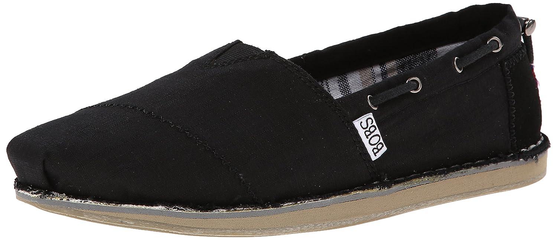 Skechers BOBS from Women's Chill Slip-On Flat B00LVZDDKW 6 M US|Black