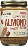 Woodstock Smooth Almond Butter, No Salt, 16 oz