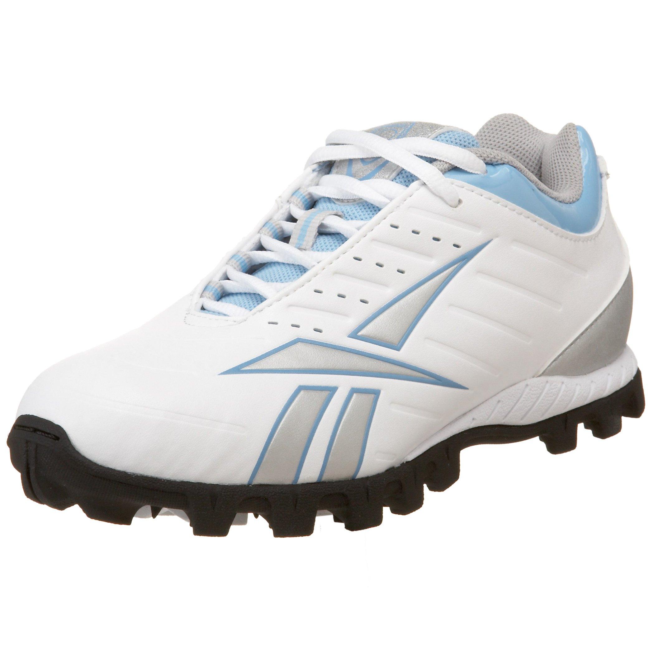 Reebok Women's Whippet Low at III Lacrosse Shoe,White/Silver/Blue/Black,11.5 M US by Reebok