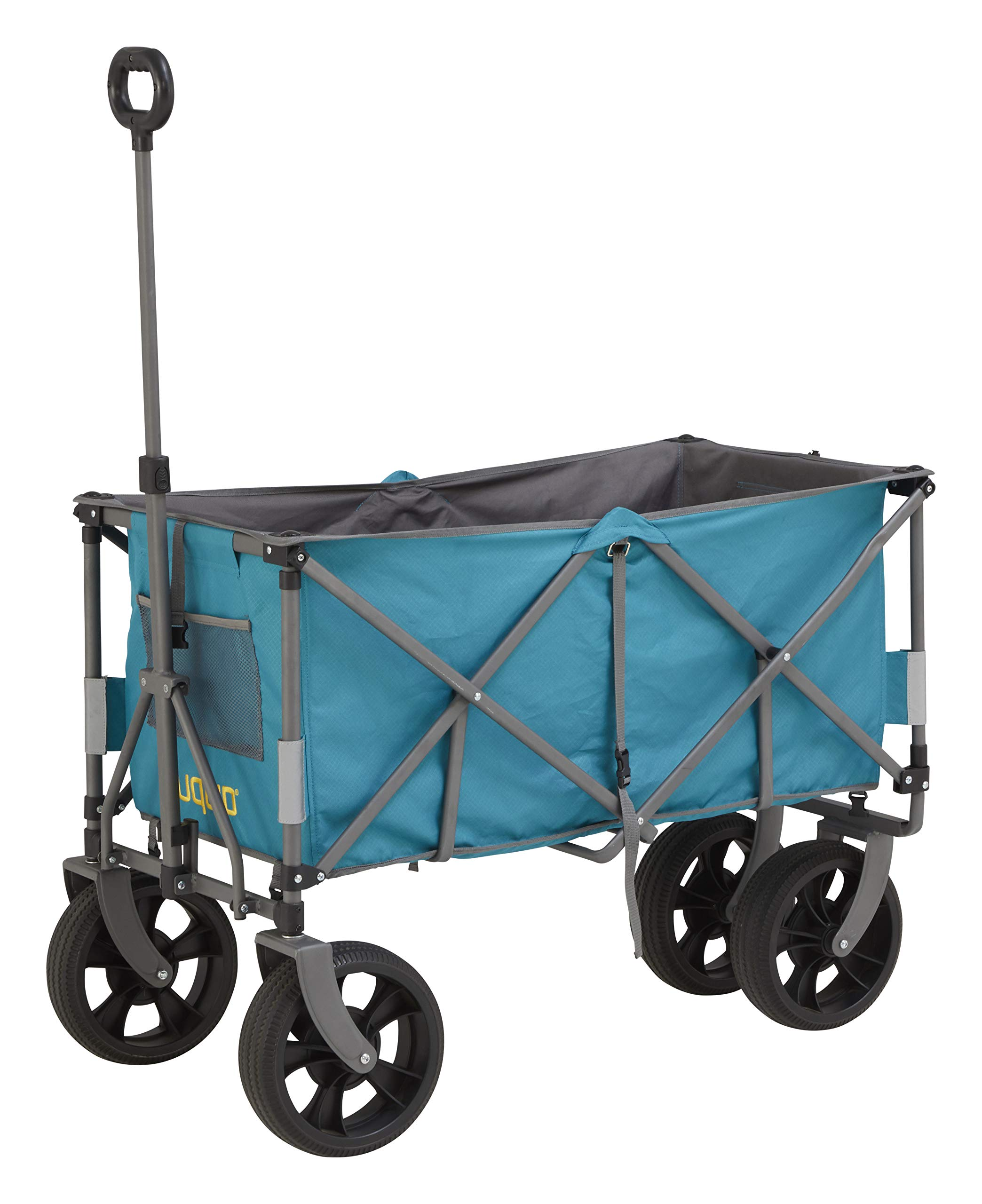 Uquip Foldable Hand Wagon Holly XXL - Solid Rubber Tires, Large Capacity, up to 220lbs