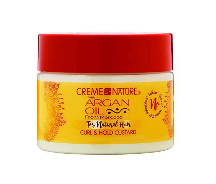 Creme of Nature with Argan Twirling custard curl styling gel 11.5oz, 11.5 Ounce