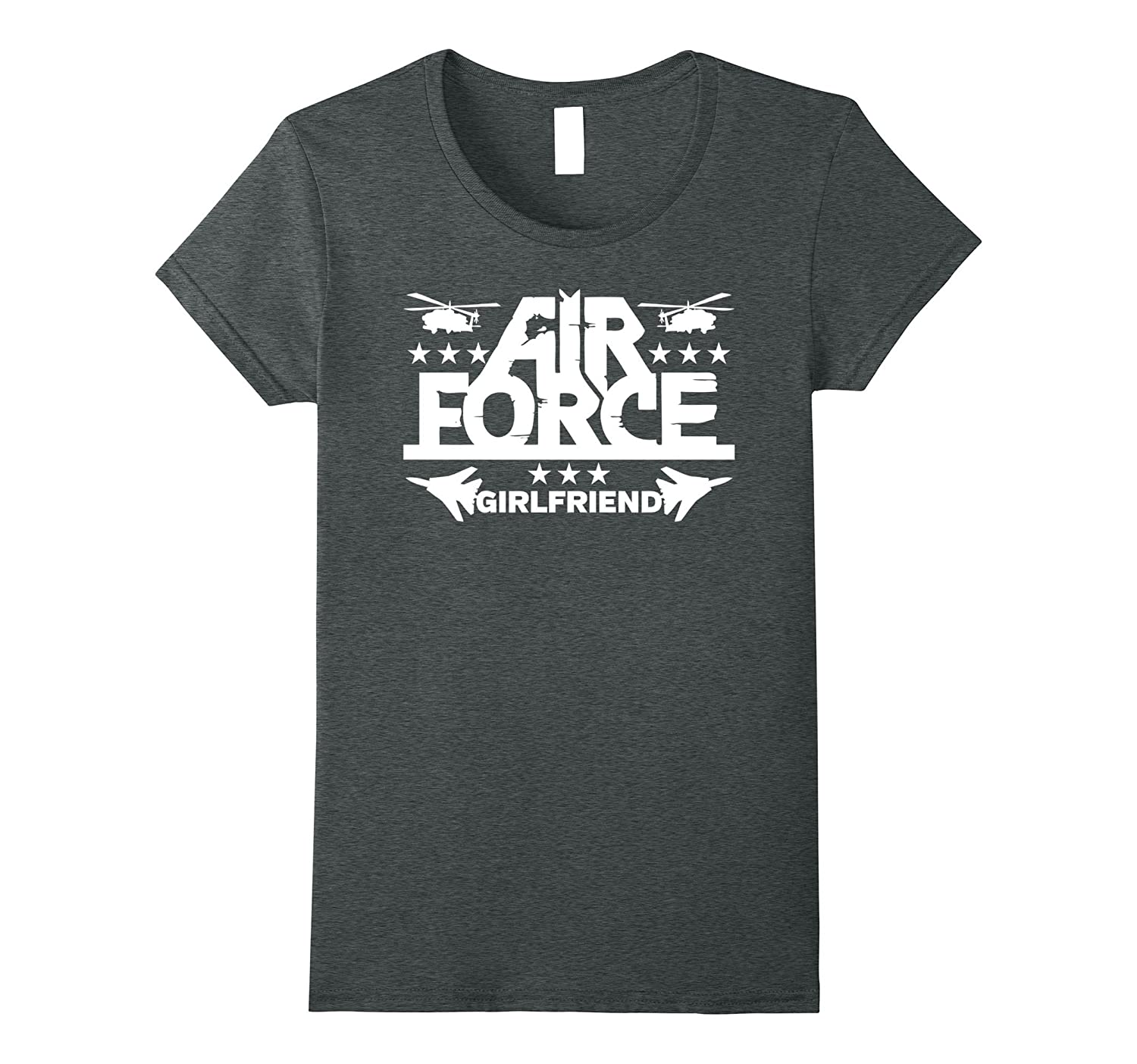 Proud Air Force Girlfriend Helicopters and Planes T-shirt