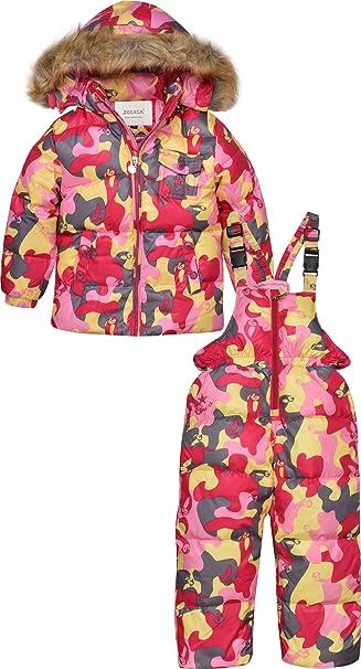 ZOEREA Chaqueta de esquí para niño Chaqueta niña abrigos niño Pantalones de nieve Ropa de invierno Set: Amazon.es: Ropa y accesorios