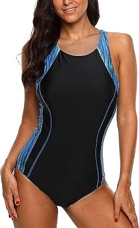 CharmLeaks Women's Competitive Athletic One Piece Swimsuit Racerback Training Swimwear Bathing Suits