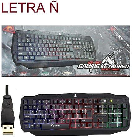Teclado gaming en español retroiluminado multifuncion LETRA Ñ xtrike me