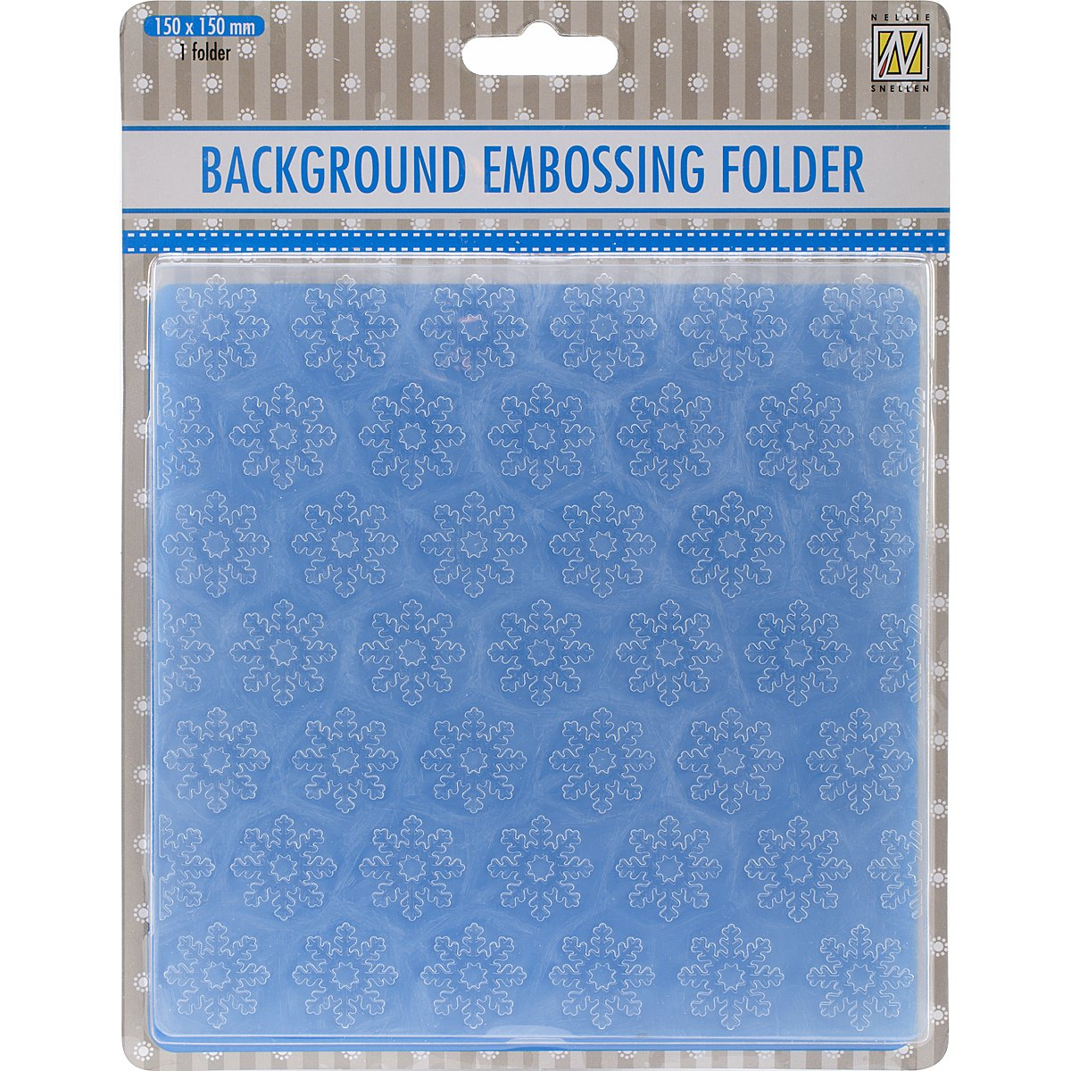 Ecstasy Crafts Nellie's Choice Background Embossing Folder, Snowflakes, 6 by 6-Inch EEB005