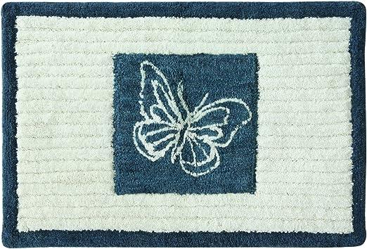 Amazon Com Bacova Guild Indigo Wildflower Cotton 20 X 30 Bath