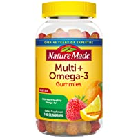 Nature Made Multivitamin + Omega-3 Gummies, 140 Count Value Size for Daily Nutritional...