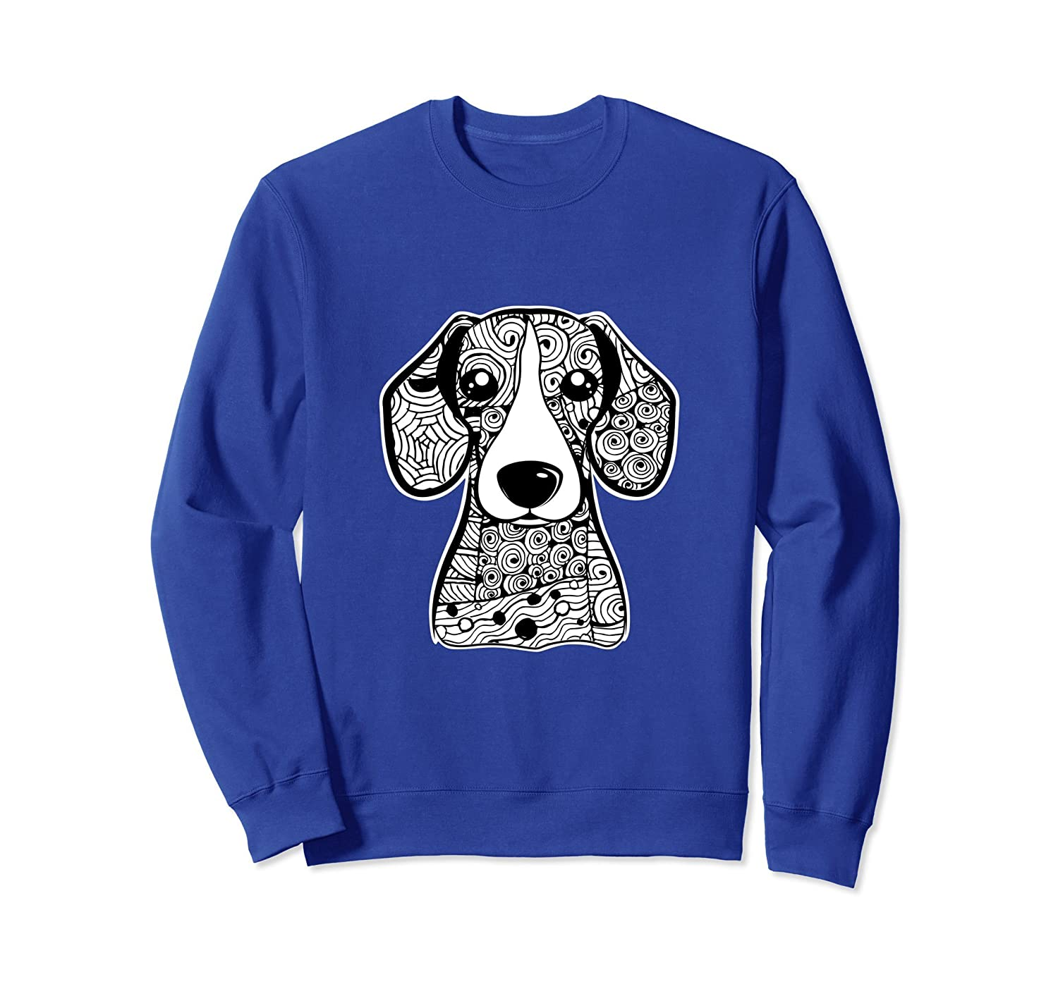 Beagle Face Graphic Art Sweatshirt Gift for Dog Mom and Dad-AZP