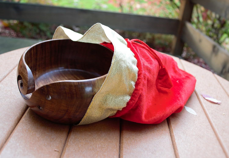Amazon.com: Yarn Paquete de tazón de madera y funda ...