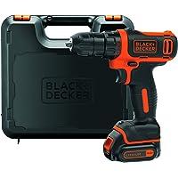 BLACK+DECKER BDCDD12K-QW Trapano Avvitatore Compatto, 10.8 V, al Litio, 1.5 Ah