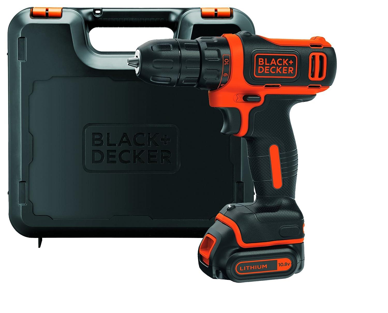 BLACK & DECKER BDCDD12KB-QW - Taladro atornillador 10.8V 1.5Ah Litio con maletí n y 2 baterí as 1.5Ah