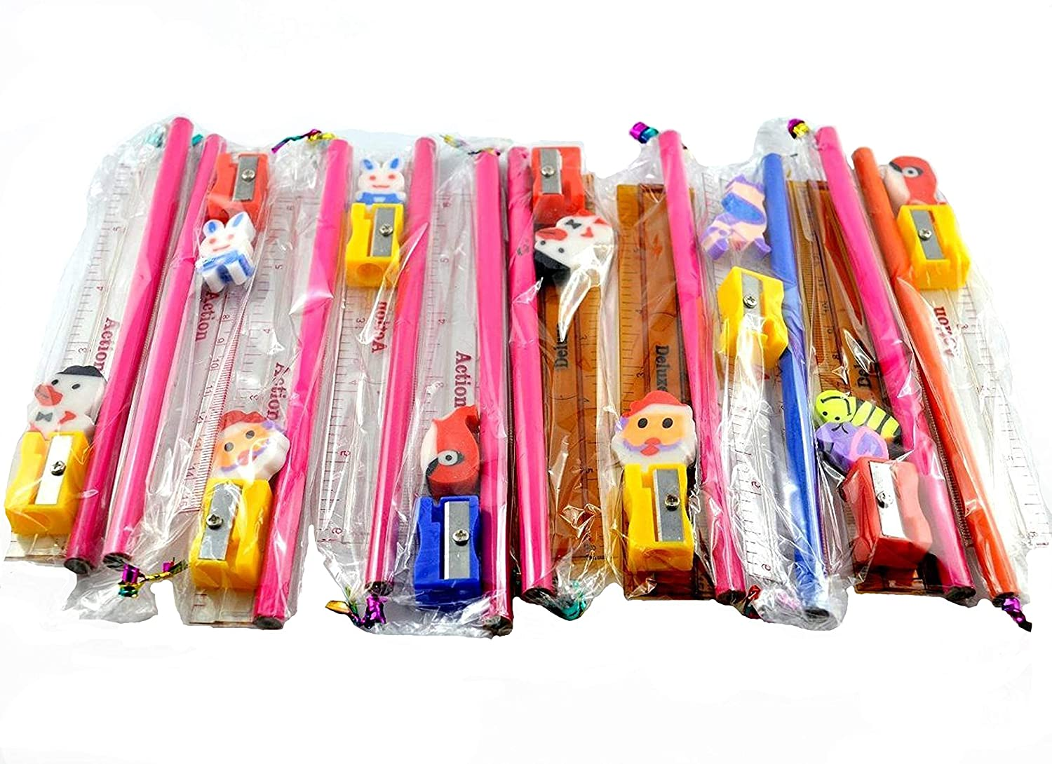 New Food Learing Eraser Beautiful Pencil Rubber Kids School Stationary Gift Set