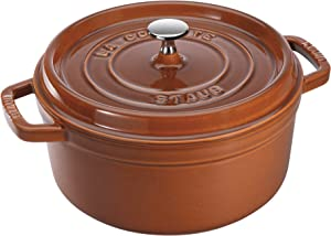 Staub 11028806 Cast Iron Round Cocotte, 7-quart, Burnt Orange