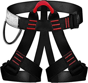 Selighting Arnés de Escalada Proteger Pierna Cintura Más Seguro,Cinturones de Seguridad para Mujer y Hombre para Montañismo Alpinismo Expedición ...