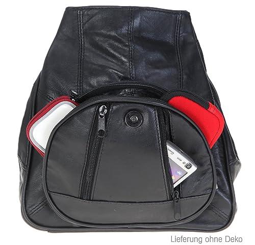 927703a59021c Bag Street Rucksack schwarz Leder-Damenrucksack mit Fee-Anhänger OTJ600S   Amazon.de  Schuhe   Handtaschen
