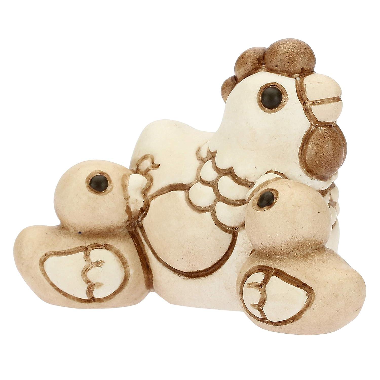 THUN/® Statuine Presepe Classico Gallina con Pulcini I Classici Ceramica