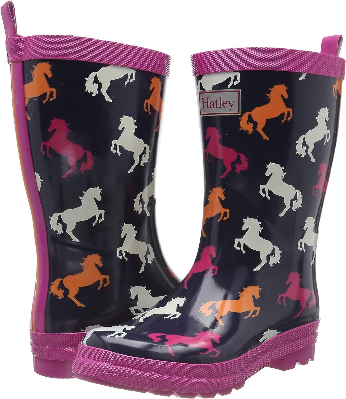 Playful Horses Hatley Kids Shiny Rain Boots